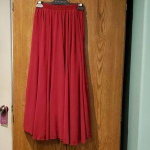 Dresses & Skirts - Long red skirt